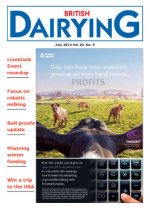 Cover image of British Dairying July 2014 edition
