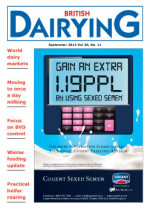 Cover image of British Dairying September 2014 edition