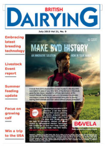 Cover image of British Dairying July 2015 edition