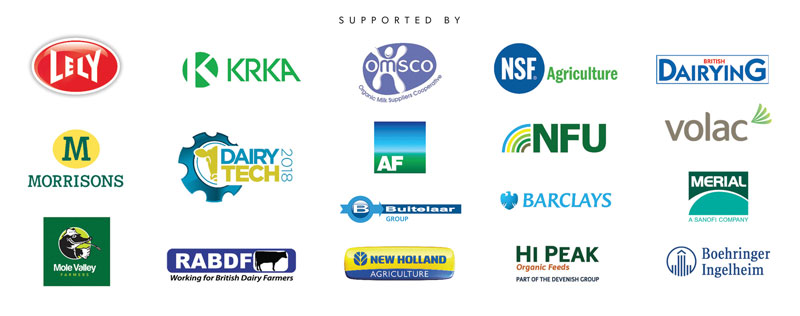 Logos of the Sponsors of The British Dairying Cream Awards 2018