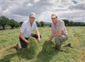 Image of Bill and Andrew Higgins in a silage field