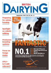 Cover image of British Dairying magazine, September 2017