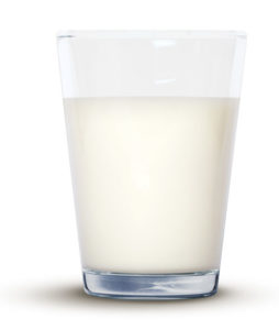 "Image from the leaflet ""Milk - everything you need"", produced by British Dairying, of a glass of milk"