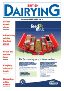 Cover image of the November 2017 edition of British Dairying