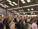 Image of dairy farmers listening to a presentation at the NMR/RABDF Gold Cup Open Day 2018