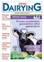 Cover image of the December 2018 edition of British Dairying, the industry magazine for dairy farmers